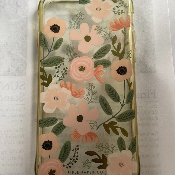 Clear/Floral Rifle Paper case for iPhone SE